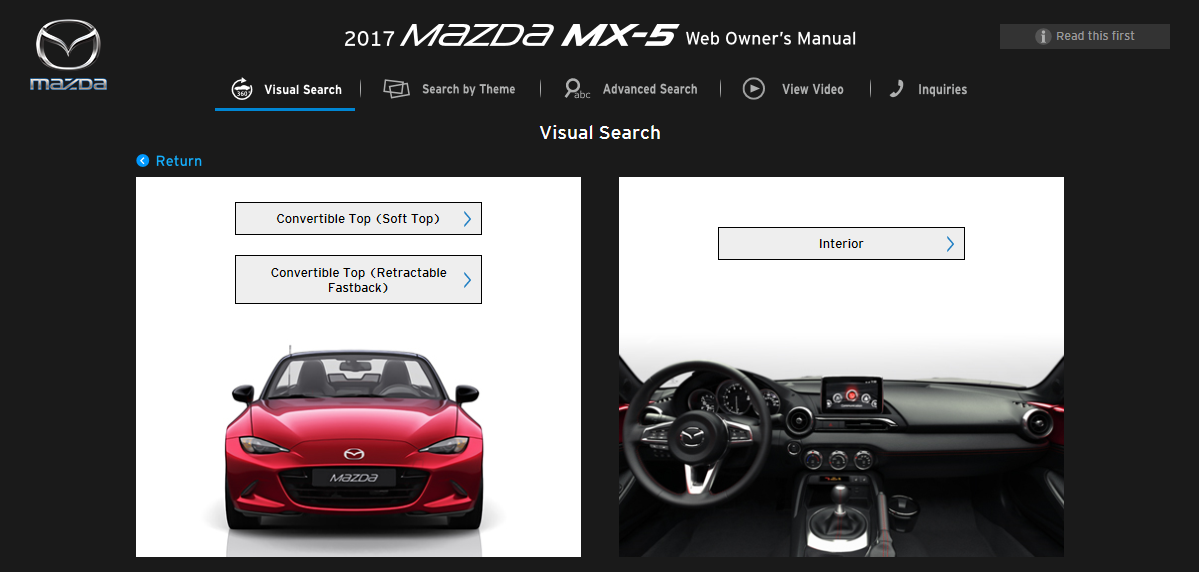 2017 mx 5 mx 5 rf owner s manual mazda canada rh mazda ca mazda mx5 owner manual 2010 mazda mx 5 owners manual